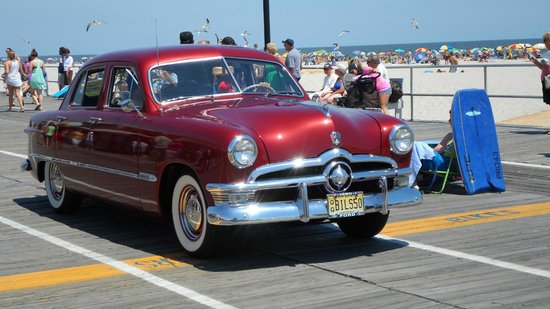 Ocean City Boardwalk: old cars show 2013