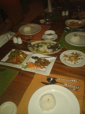 Sea Dance Resort : Lovely thai food at sea dance