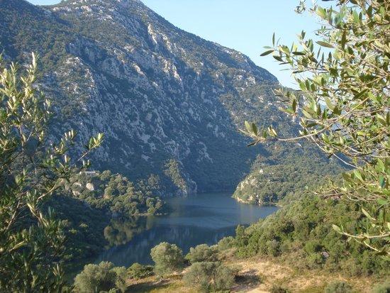 Agriturismo Canales: view of lago del cedrino