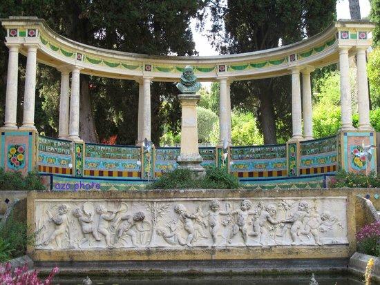 Jardins Fontana Rossa : mosaïque  Don Quichotte