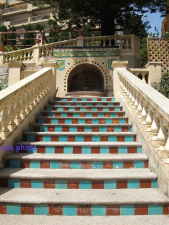 Jardins Fontana Rossa : Escalier vers la maison des amis et l'allée Bacchus