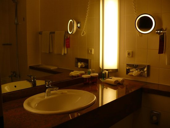 Crowne Plaza Heidelberg City Centre: spacious bathroom with toiletries