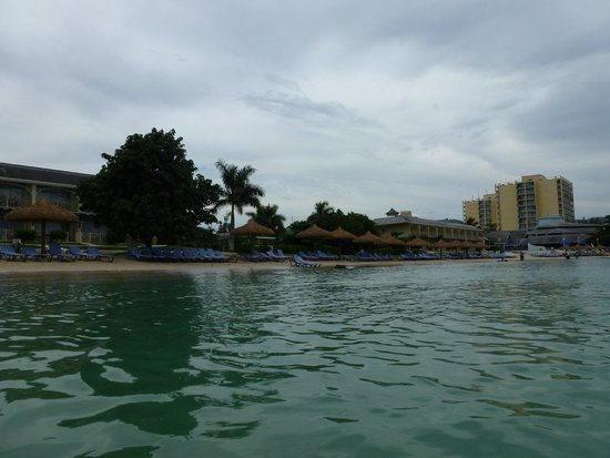 Sunscape Cove Montego Bay: From ocean looking back at Oasis