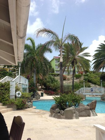 Pineapple Beach Club Antigua: view from family pool
