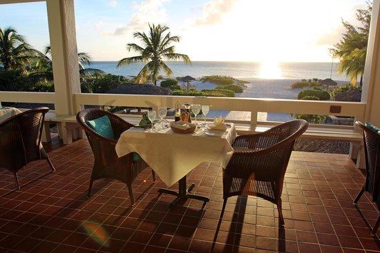The Meridian Club Turks & Caicos: Dining from Club House Balcony