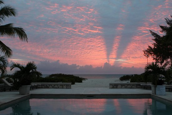 The Meridian Club Turks & Caicos: Sunset from Club House Balcony