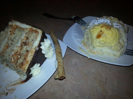 Stax Omega: Italian Creme Cake and Greek Cannolli