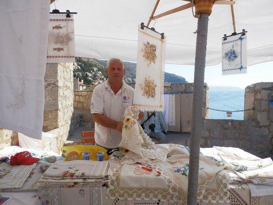 Hilton Imperial Dubrovnik: Man selling lace. Dubrovnik Croatia
