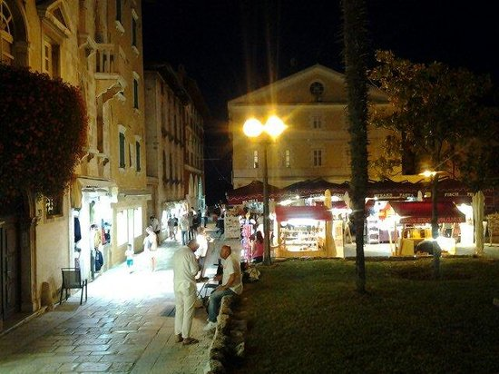 Porec Old Town: Porec by night