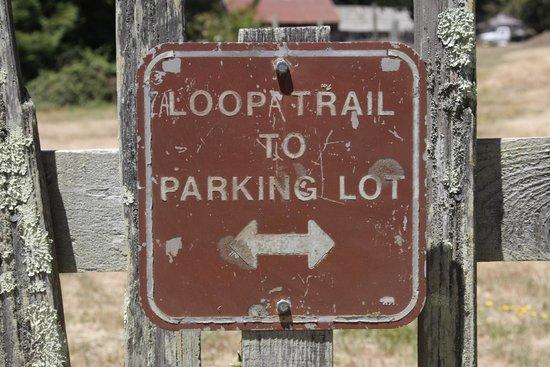 Fort Ross State Historic Park: Русские везде подправят надпись