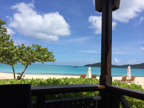Hermitage Bay: View from restaurant