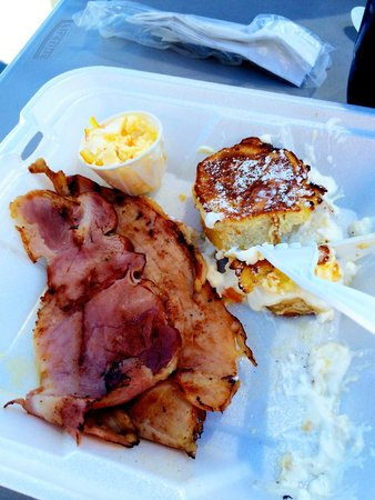 Woods Creek Cafe : Orange Marmalade French Toast with Ham