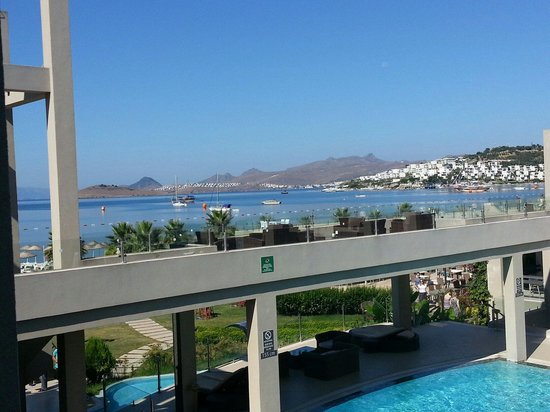 Ambrosia Hotel: View from our balcony of the bay