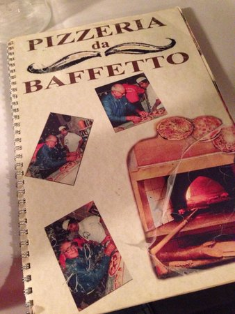 Pizzeria da Baffetto : Il menù vissuto