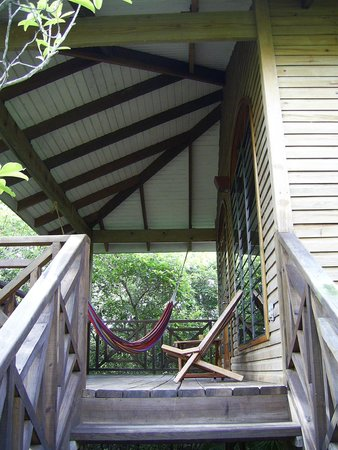 Hamanasi Adventure and Dive Resort: Porch on our treehouse