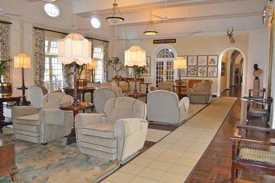 The Victoria Falls Hotel: Public lounge area
