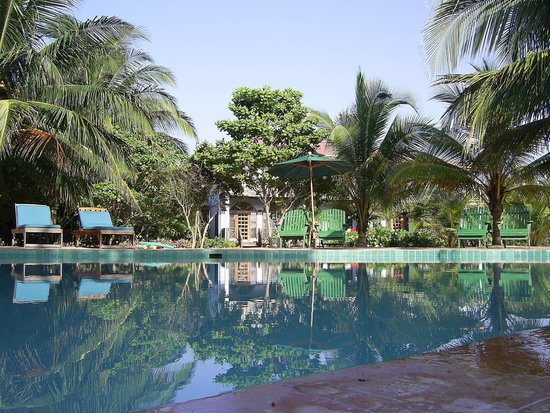 Hamanasi Adventure and Dive Resort: Pool and lounge area.