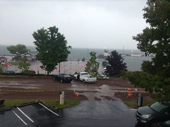 Harbor's Edge Motel: View from room 14 after big rainstorm.