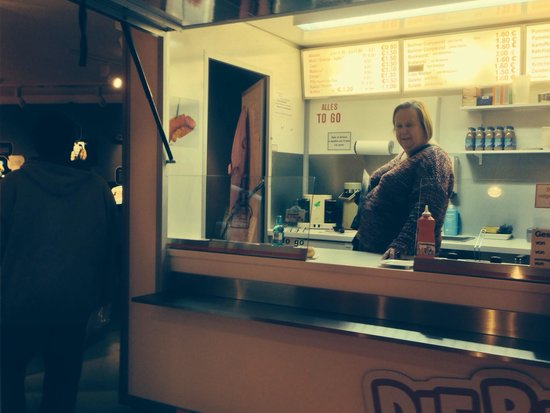 Generator Hostel Berlin Mitte: My wife at curry wurst museum