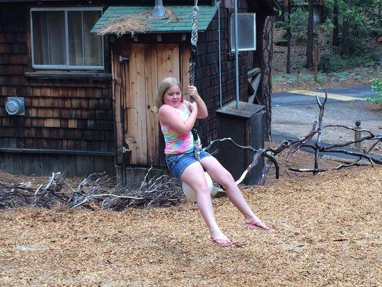 Evergreen Lodge at Yosemite: Fun on the zip line