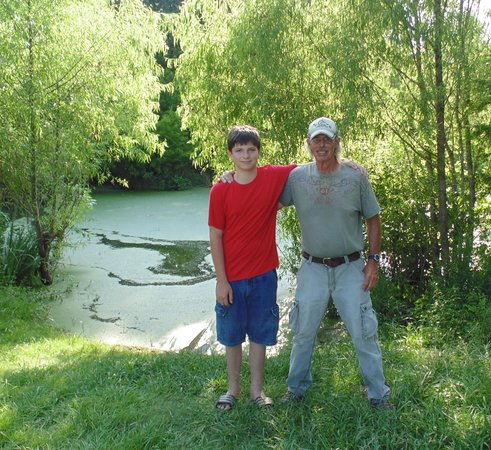 Cajun Country Swamp Tours : My grandson and our guide, Butch