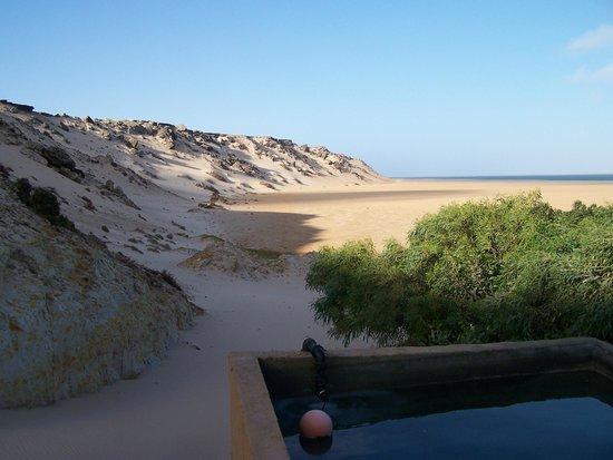 ocean vagabond : Vue du bungalow le plus au Sud