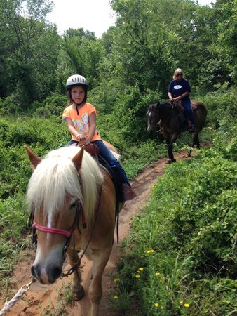 Widowmaker Trail Rides: My 6 year old granddaughter..first time on a horse