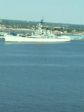 Hilton Philadelphia at Penn's Landing: USS New Jersey-view from room
