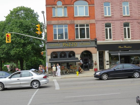 Pazzo Taverna and Pizzeria: View from across the street