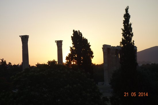 The Athens Gate Hotel: Sunrise Viewed From Room Balcony