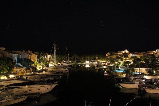 Port St. Charles: Night shot of lagoon