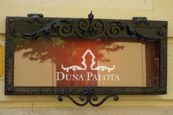 Danube Palace: Plaque with name of the building.
