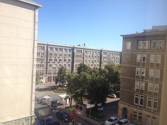 Mercure Warsaw Grand: The view, not great but meant it was quiet