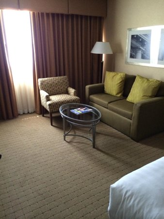 Hyatt Regency New Brunswick: chair and sofa