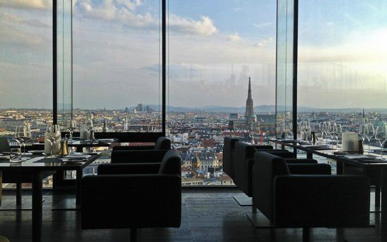 sofitel vienna stephansdom view from top floor. Black Bedroom Furniture Sets. Home Design Ideas