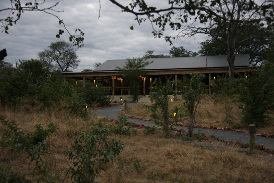 Chobe Elephant Camp: lounge/dining from distance