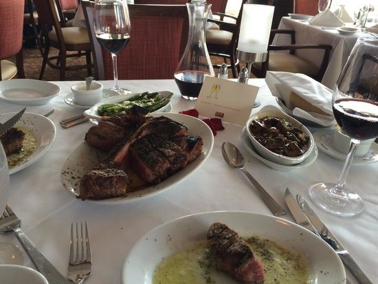 Ruth's Chris Steak House: Porterhouse for two!! I wasn't crazy about the asparagus, but my husband loved it!!