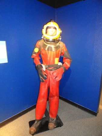 Ocean Star Offshore Drilling Rig & Museum : An example of a dive suit.