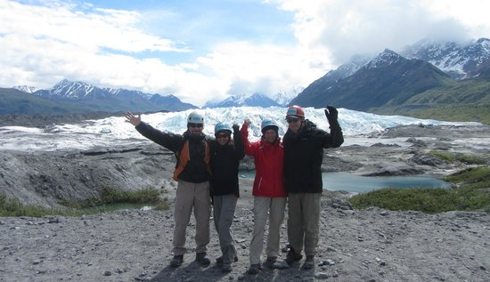 Mica Guides: Heading out on the glacier