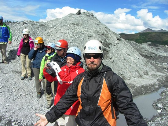 Mica Guides: Walking out on the glacier