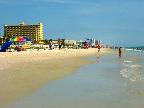 Hampton Inn Daytona Beach/Beachfront: Wide beach in front of hotel