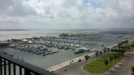 Holiday Inn Corpus Christi Downtown Marina: Beautiful view from 15th floor facing the Marina. Just wish the doors opened to the balcony.