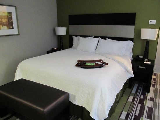 Hampton Inn Leesville/Ft. Polk: bed