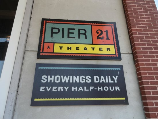 Pier 21 Theater: Outside the theatre.
