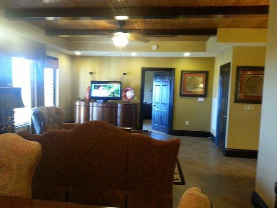 Wyndham Bonnet Creek Resort: Living room 1 bedroom presidential room 1106