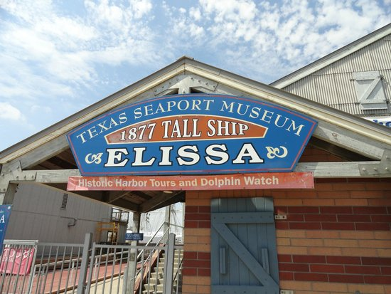 1877 Tall Ship ELISSA: The sign outside