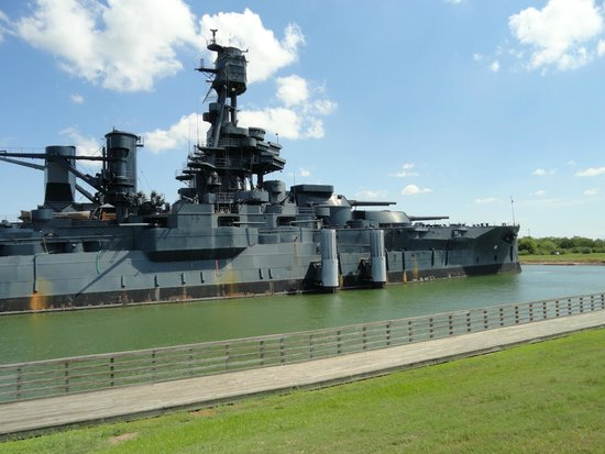 The upper decks picture of battleship texas state for How far is la porte tx from houston tx