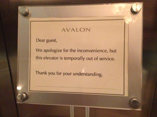 Avalon Hotel : Temporarily*