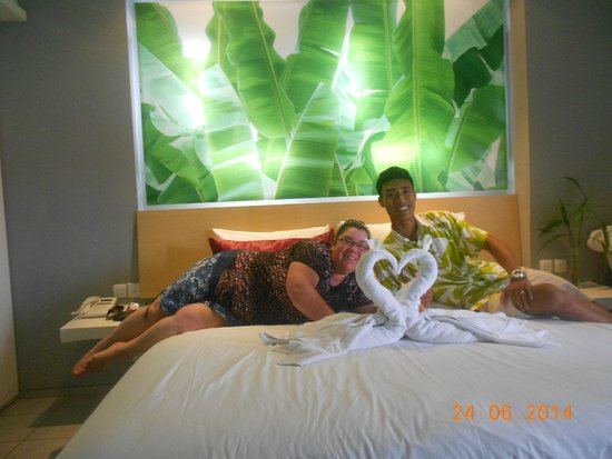 EDEN Hotel Kuta Bali - Managed by Tauzia: our cleaning staff with surprise on the bed for us