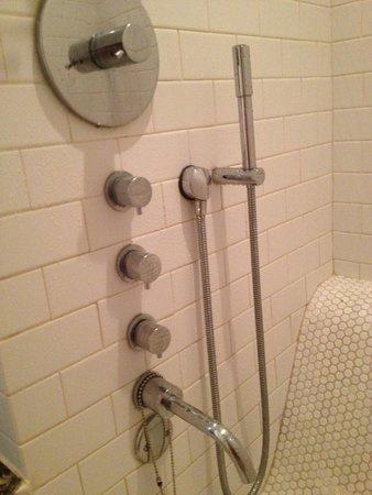 Gramercy Park Hotel: shower controls